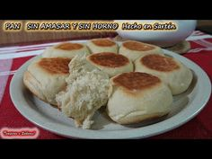 PAN SIN AMASAR Y SIN HORNO, hecho en Sartén, Económico, Fácil y Delicioso - YouTube Cream Cheese Biscuits, Homemade Buns, Good Food, Yummy Food, Bread And Pastries, Bakery, Muffin, Food And Drink, Cooking Recipes