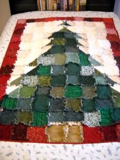 Image result for how to make a rag quilt christmas stocking