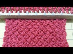 [Original de Norelizz]Punto De cesta, Reversible Telar maya modificado. - YouTube Loom Knitting Stitches, Spool Knitting, Loom Knitting Projects, Loom Knitting For Beginners, Knitting Videos, Crochet Videos, Loom Crochet, Chunky Crochet, Loom Patterns