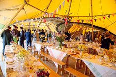 Teddy Boy Suits And Tipis ~ A 'Don't Tell The Bride' Style, Secret, Retro Festival Wedding, All Organised By The Groom!