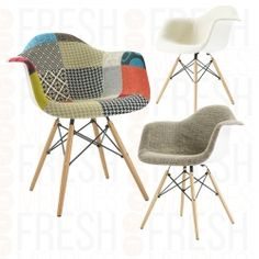 Chaise patchwork xl style bleu deco pinterest for Fauteuil eames patchwork