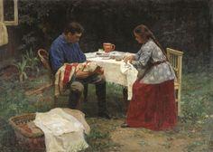 Nikolai Alekseyevich Kasatkin - The family of a worker, (1891).