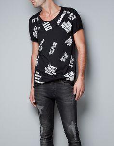 TEXT T-SHIRT - T-shirts - Man - ZARA United States
