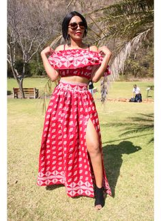 Zizi Red Set Kurti Patterns, Two Piece Skirt Set, Skirts, Summer, Red, Dresses, Design, Fashion, Vestidos