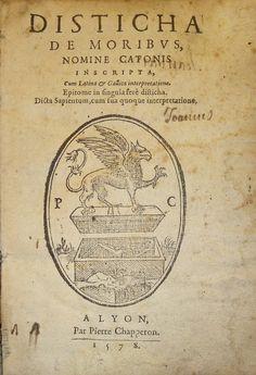 Device of Pierre Chapperon, 1578. Lyon.