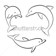 Of Colorful Cute Dolphin Vector Set Various Dolphins Tattoo Dolphin Drawing, Dolphin Art, Cute Tattoos, Body Art Tattoos, Tatoos, Dolphin Silhouette, Dolphins Tattoo, Cross Stitch Kits, Stone Painting