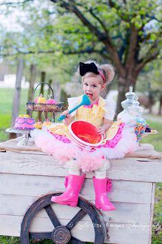 Lala Loopsy Inspired Costume, Crumbs Sugar Cookie Dress, Child's Halloween Costume. $145.00, via Etsy.