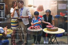 "Ad for Conrad hotels, in which the implicitly wealthy, White audience is invited to indulge in ""the luxury of being yourself,"" which includes the ability to have authentic, off-the-beaten-path experiences in far-flung locales, while remaining clearly distinct from them:"
