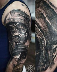 Realism Mask Tattoo by Timur Lysenko - http://worldtattoosgallery.com/realism-mask-tattoo-by-timur-lysenko/