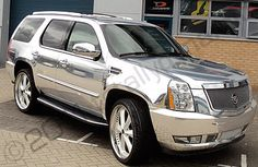 chromed caddilac | cadillac escalade chrome mirror chrome cadillac escalade wrapped ...