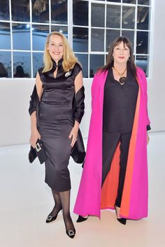 Jerry Hall and Anjelica Huston