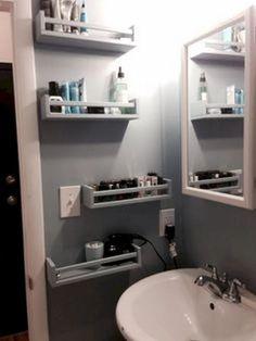42 Ideas for tiny closet organization diy space saving Small Closet Storage, Bathroom Storage Shelves, Small Closet Organization, Ikea Storage, Wall Storage, Bedroom Storage, Storage Ideas, Organization Ideas, Storage Solutions