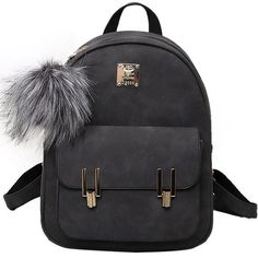 7f7be29a8a4 Fashion Frosted PU Zippered School Bag With Metal Lock Match Backpack