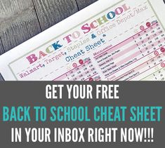 free printable 2018 back to school cheat sheet money saving momcrack