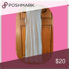 Love Culture Long Sweater Dress Gently worn. Very cute dress. Gray with black strips. Love Culture Dresses