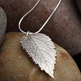 Silver Leaf Pendant - super natural