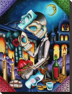 Day of the Dead art- Masquerade by Dave Sanchez