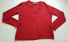 Women's Basic Editions Red Knit Top Size Medium 100% Acrylic #401 in Clothing, Shoes & Accessories, Women's Clothing, Tops & Blouses | eBay