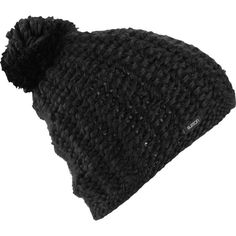 Burton Guess Again Pom Beanie ($30) ❤ liked on Polyvore featuring accessories, hats, beanie cap, pom pom hat, slouch hat, saggy beanie and pom pom beanie
