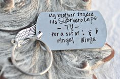 My Superhero Traded His Cape For Wings™ - In loving memory - Loss of Son - remembrance jewelry- Loss of a child -baby memorial-memorial by HeelLilies on Etsy