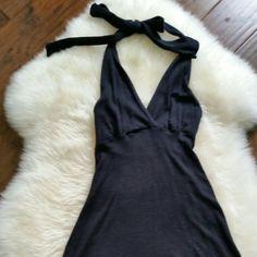 Michael Stars Shine Black Halter Dress
