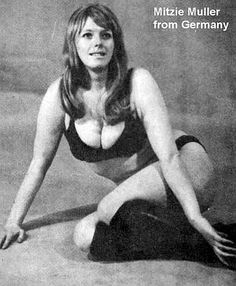 Mitzi Mueller was one of the UK's first women wrestlers