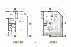 O邸 玄関のない家 | エントランス | マンション | 料理 | WORKS | RE:FACTORY(アールイーファクトリー)広島のリノベーション
