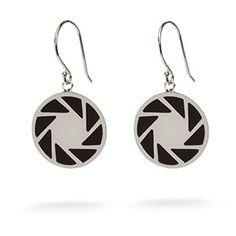 ThinkGeek :: Portal 2 Aperture Logo Earrings $29.99