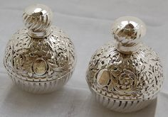 Antique Silver perfume bottles from Nigel Williams