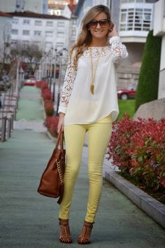 Love the shirt, but maybe a different color pant (More of a fall pant)