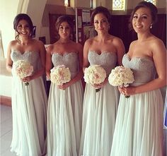 Sweetheart Chiffon bridesmaid dresses, Lace Bridesmaid Dresses party dress floor length bridesmaid party dress beach