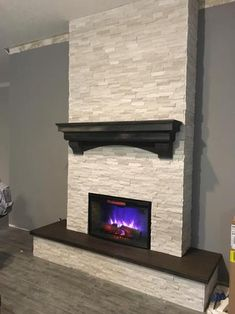 Good Absolutely Free Fireplace Hearth stone Ideas Fantastic Pics Fireplace Hearth with tv Thoughts Newest Images ledger Stone Fireplace Popular Dirt Fireplace Hearth, Marble Wall Tiles, Living Room Decor Fireplace, Fireplace Design, Stone Fireplace Makeover, Fireplace Decor