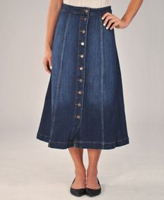 Salinas Denim Midi Skirt – This season's best kept secret is the long denim skirt.