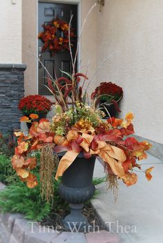How To Make A Fall Double Wreath {Time With Thea}
