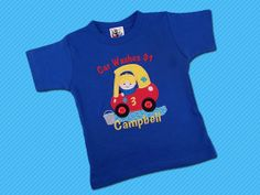 Boy's Car Wash Birthday Shirt with Small Door by SunbeamRoad, $25.00