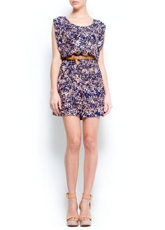 MANGO - Printed dress with belt