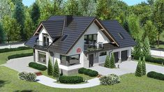 House Layout Plans, House Layouts, Bungalow Style House, One Storey House, Classic House Exterior, House Architecture Styles, Garden Cabins, House Design Pictures, Log Home Interiors