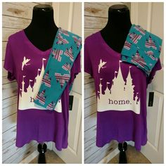 Lularoe Castle leggings paired with a shirt I made using HTV vinyl. Disneyland outfit