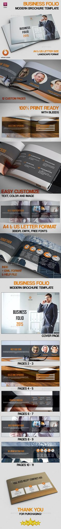 Business Folio — InDesign INDD #brochure #us • Available here → https://graphicriver.net/item/business-folio/9202426?ref=pxcr
