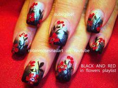 Robin Moses Nail Art #prom nail art