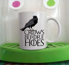 crows before hoes game of thrones logo mug cup two side ceramic 11oz