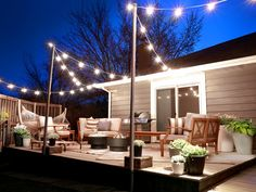 string lights, plants, pergola? Erin's Guest-Ready Deck | Hayneedle Blog