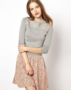 NW3 Slim Fit Sweater with Tapestry Yoke Detail