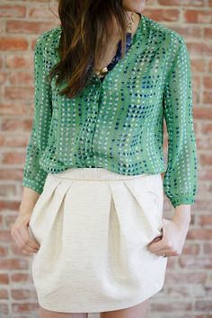 Outfit Post: School Colors * green, blue & gold *