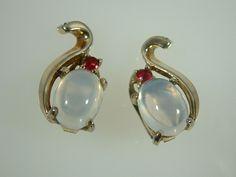 Vintage Crown Trifari Clair De Lune Necklace and Earring Set