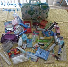 I put together this handy Wedding Day Emergency Kit for my friend JJ, to give to her at the bridesmaid luncheon the day before her wedd...