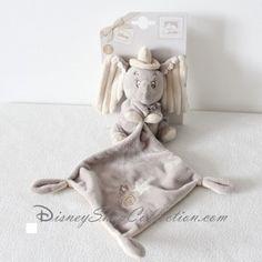 Doudou mouchoir Dumbo DISNEY NICOTOY étoiles éléphant gris beige noeud 37 cm