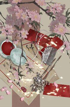 古风小物件 | 漾湫 - 原创作品 - 涂鸦王国插画 Fantasy Landscape, Fantasy Art, Arte Do Kawaii, Japon Illustration, Christmas Drawing, Rainbow Art, Kawaii Wallpaper, Anime Scenery, Chinese Art