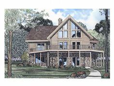 Waterfront Log House, 025L-0010