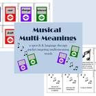 Multiple meaning words can be confusing to students with language delays as well as ESL students.  Musical Multi-Meanings is a speech and language ...